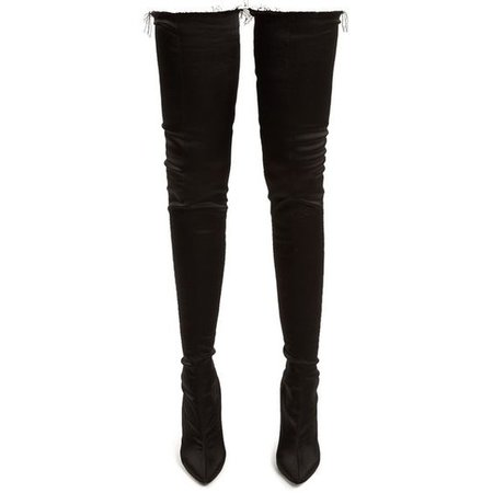 Vetements Thigh-high satin boots