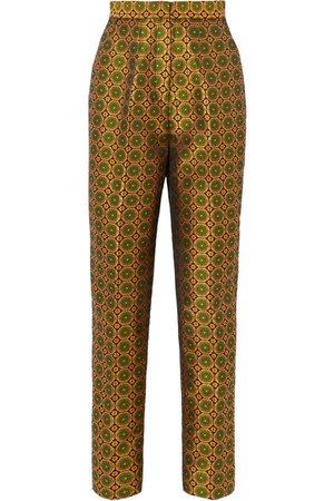 Saloni | Maxima floral brocade tapered pants | NET-A-PORTER.COM