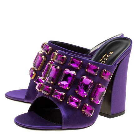 purple gucci mules shoes