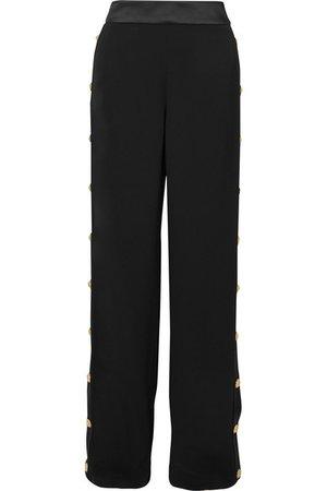 Balmain | Pantalon de survêtement large en crêpe à boutons | NET-A-PORTER.COM