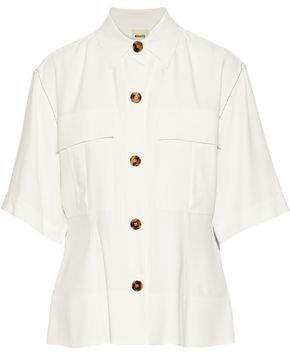 Leila Crepe Peplum Shirt