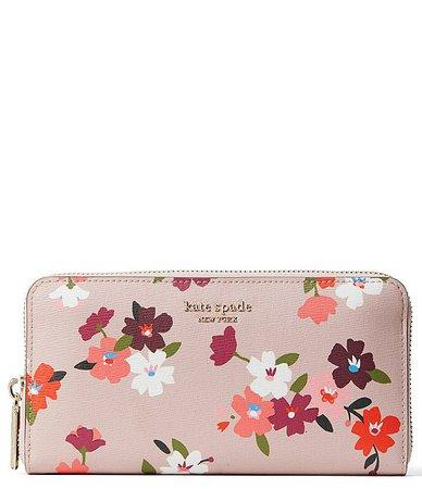 kate spade new york Floral Zip Continental Wallet | Dillard's