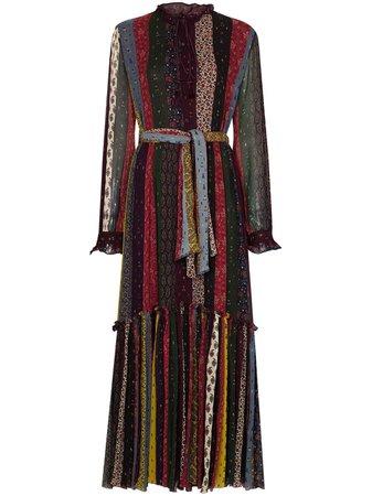 Etro stripe-print Patchwork Maxi Dress - Farfetch