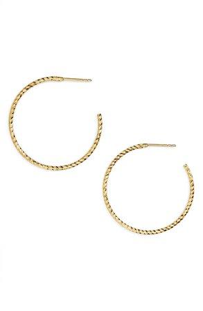 Argento Vivo Textured Hoop Earrings | Nordstrom