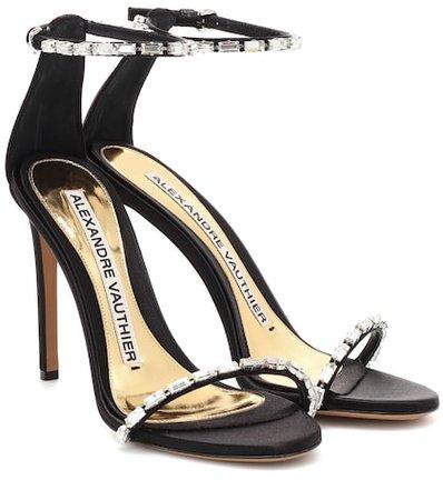 Carla embellished satin sandals