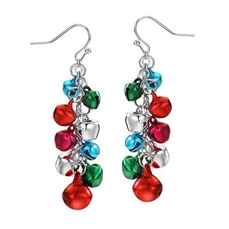 Christmas Earrings for Women Jingle Bell Drop Dangle Earring Holiday Earrings Party Jewelry Teens Gifts: Jewelry