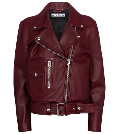 Acne Studios - Leather biker jacket | Mytheresa