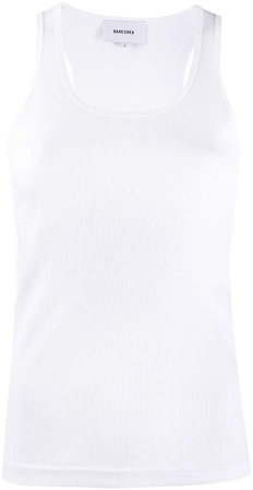 fitted cotton tank top