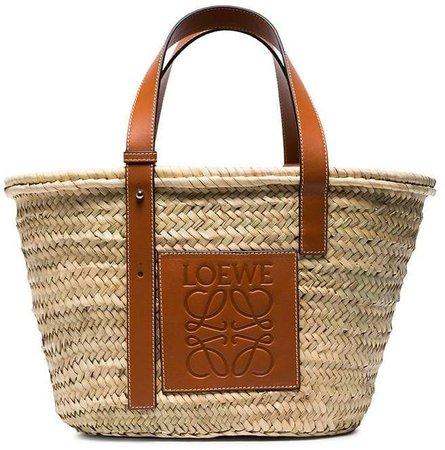 logo medium basket bag