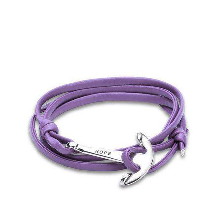 purple punk hope bracelet