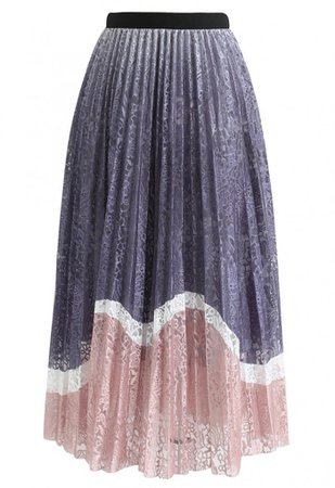 Lightweight Colored Floral Mesh Skirt in Pink - NEW ARRIVALS - Retro, Indie and Unique Fashion