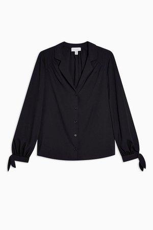 Black Tie Sleeve Shirt | Topshop
