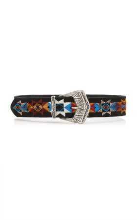 Embroidered Leather Belt By Etro | Moda Operandi