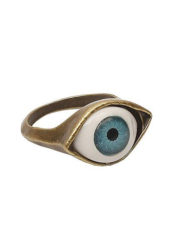 Lovers2009 Punk Style Retro Exaggeration Blue Eye Ring|Amazon.com