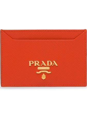 Prada Saffiano Leather Card Holder Ss19 | Farfetch.com