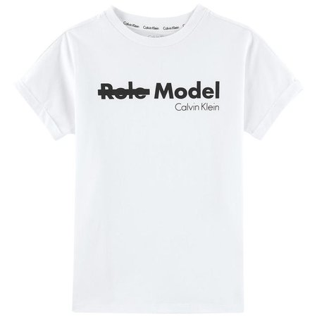Logo print T-shirt Calvin Klein for girls and boys | Melijoe.com