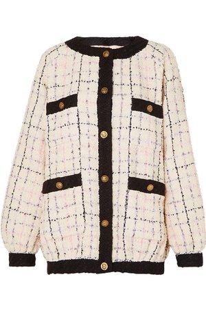 Gucci | cotton-blend bouclé-tweed bomber jacket