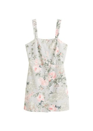MANGO Cotton-blend dress