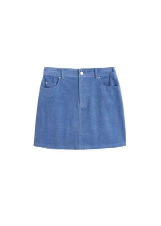 MANGO Corduroy cotton skirt