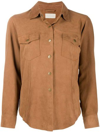 Suede Chest Pocket Shirt