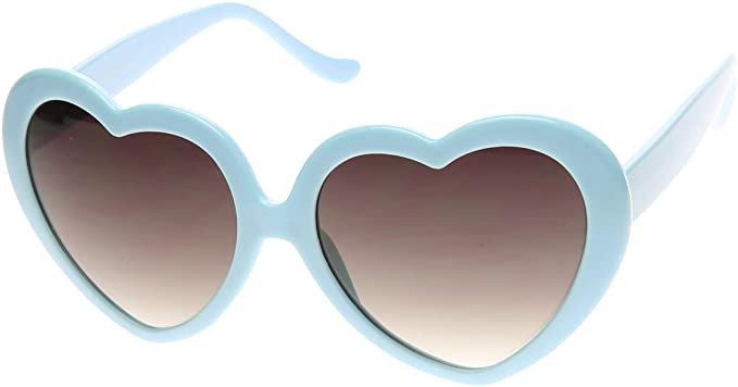 Amazon.com: Large Oversized Womens Heart Shaped Sunglasses Cute Love Fashion Eyewear (Blue): Shoes