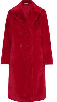 Montana Double-breasted Faux Fur Coat