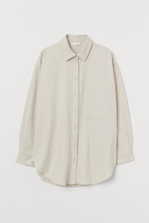 Denim Shirt - Beige