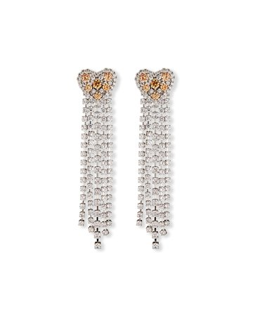 Fallon Heart Waterfall Chandelier Earrings