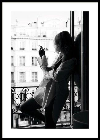 smoking in paris plakat