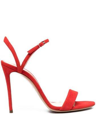 Casadei suede high heel sandals red 1L489N1001T0119 - Farfetch