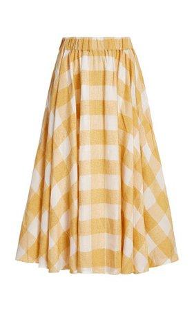 Sutherland Checked Woven Full Midi Skirt By Acler | Moda Operandi