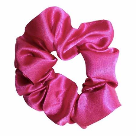 dark pink silk scrunchie