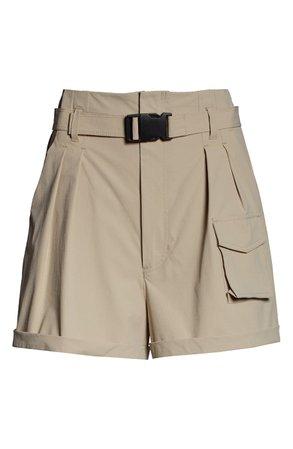 Blanc Noir Caravan Belted Paperbag Waist Shorts | Nordstrom
