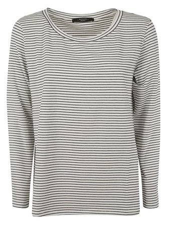 Max Mara Striped Print Long-sleeved T-shirt