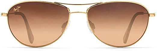 Amazon.com: Maui Jim Baby Beach Aviator Sunglasses, Gold Frame/HCL Bronze Lens, One Size: Maui Jim: Clothing