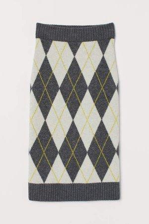 Jacquard-knit Skirt - Gray