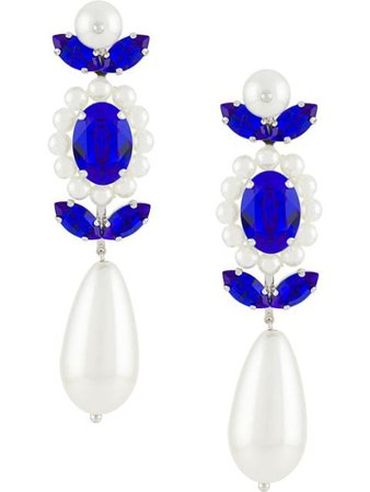 Simone Rocha Faux Pearl Crystal Earrings ERG2020906 White | Farfetch