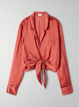 Wilfred TIE FRONT BLOUSE | Aritzia CA