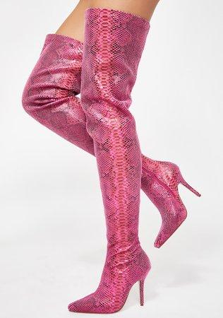 *clipped by @luci-her* AZALEA WANG Phantom Snakeskin Boots   Dolls Kill