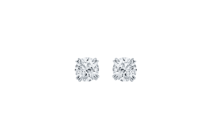 Round Brilliant Diamond Stud Earrings | Harry Winston