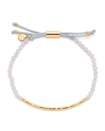 gorjana Power Gemstone Adjustable Beaded Bracelet - Blue Lace Agate | Neiman Marcus