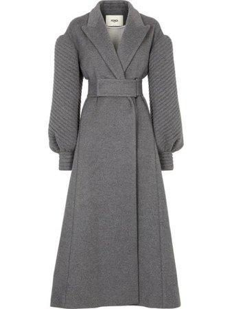 Fendi balloon-sleeve belted cashmere coat FF8768W18 - Farfetch