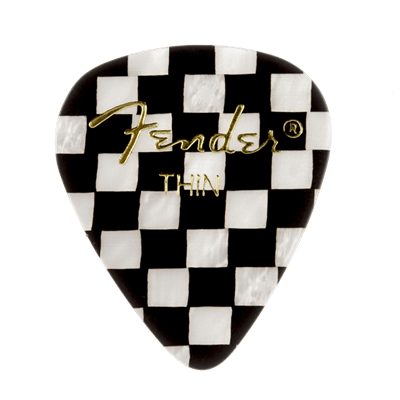Fender 351 Shape, Checker, Thin (12) guitar pick