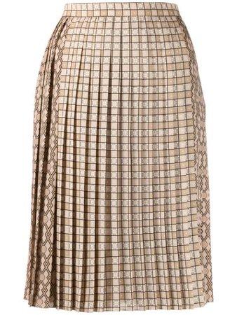 Burberry pleated midi skirt - FARFETCH