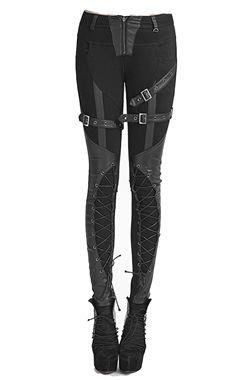 Leather Buckle Leggings
