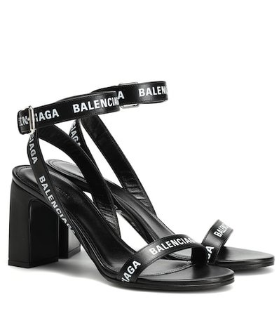 Logo leather sandals