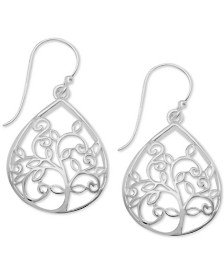 Essentials Filigree Disc Drop Earrings & Reviews - Earrings - Jewelry & Watches - Macy's