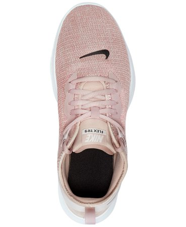 Nike Women's Flex Trainer 9 Training Sneakers from Finish Line & Reviews - Finish Line Athletic Sneakers - Shoes - Macy's pink