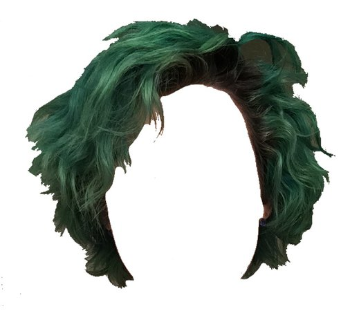 Green Curly Short Hair