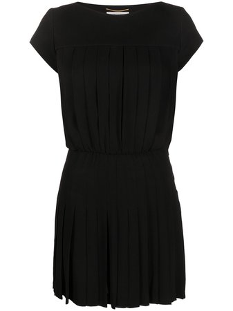 Saint Laurent pleated mini dress